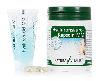 Hyaluronsurekapseln von Natura Vitalis mit Hyalurongel